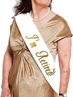 JPACO I'm Retired! Sash - Novelty Retirement Sash for Men & Women. Great for Work Party, Events, Party Supplies, Gifts, Favors, Decorations. Fits All Sizes