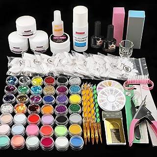 42 in 1 Acrylic Nail Art Set Acrylic Nail Powder Glitter Brush Nail French Tips Nail Art Decoration Tools Set
