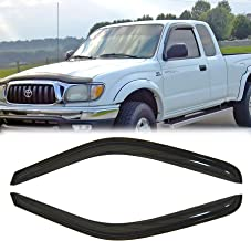 MGPRO 2pcs Smoke Tint Out-Channel w/ 3M Reinforced Acrylic Sun Rain Guard Vent Shade Window Visors For 1995-2004 Toyota Tacoma Standard (Regular) / Extended (Access) Cab Pickup