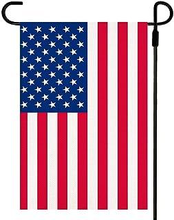 Yileqi Premium American Flag Garden Flag Burlap Vertical Double Sided Patriotic US Garden Flag 12.5 x 18 Prime, Mini Small...