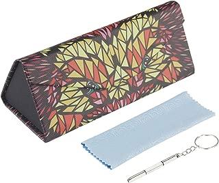 Stone-la Foldable Portable Eyeglass Cases Pattern PaintedMagnet Glasses Case