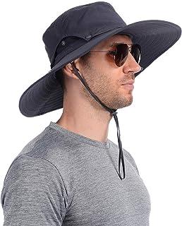 USHAKE Super Wide Brim Fishing Sun Hat Water Resistant Bucket Hat for Men or Women