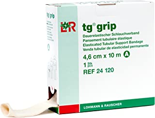 tg Grip Elastic Tubular Compression Bandage, Seamless Tube Stockinette Wrap for Retention, Lymphedema, Swelling, 85% Cotton, Washable & Reusable, Size A