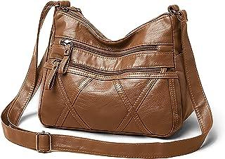 Damen Kleine Umhängetasche,Frauen Leichte Umhängetasche Multi Pocket Casual Wasserdichte Geldbörse Leichte Messenger Tasche
