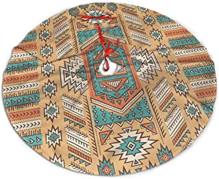 NSDIGV05 Ethnic Aztec Secret Tribe Pattern in Native American Bohemian Style Christmas Holiday Tree Skirt,Size: 30 Inch,36 Inch,48 Inch, Simple Christmas Tree Holiday Decoration.