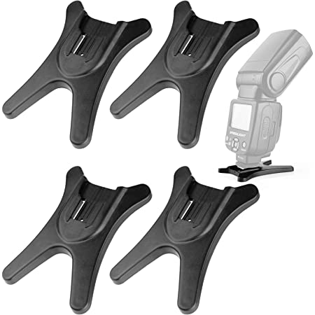 MicroFiber Clean Cloth 2 Pack Hot Shoe Flash Light Base Mount Stand Holder for Canon Nikon Sigma Pentax Olympus Panasonic CEARI