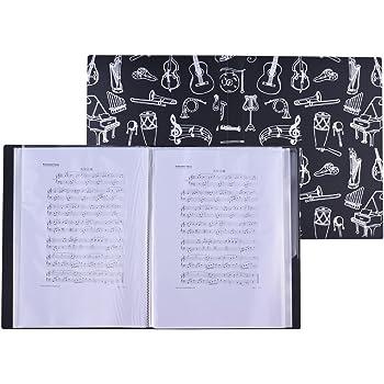 Sacchetto di file del libro di visualizzazione di spartiti formato A4 per foglio di report Ritagli di fogli di musica per grafica A4 27 9 cm 37