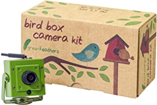 Green Feathers WiFi Bird Box House Camera - HD with IR, MicroSD Recording View Directly on Mobile Phone or Tablet