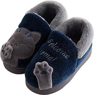 Acfoda Zapatillas de estar por casa unisex para adultos y niños, con suela suave, tallas 35-44