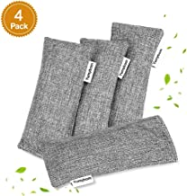 Yumybom Natural Activated Bamboo Charcoal Bags 4 Pcak, Home Air Purifying Bag, Car Odor..