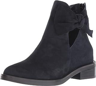 Nine West Women's TINASOFA Suede Ankle Boot, Navy, 5 M US
