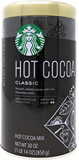STARBUCKS 星巴克 经典烘焙速溶热可可粉 850克 (3 桶)