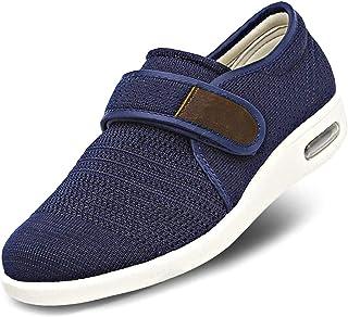 SAKEN Chaussures Diabétiques pour Hommes, Chaussures De Randonnée Chaussure Large Slip-Botifouilleur Fasciite Fasciars Fas...