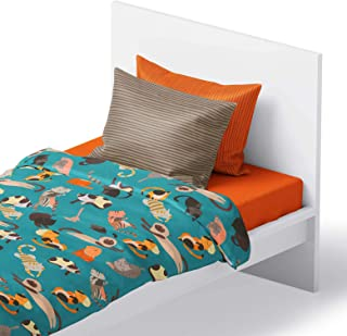 Fits Bed Size: 54 x 75 x 15 inches Deep Super Soft Microfiber Chital 4Pc Full Linen Sheet Set Cute Colorful Butterfly Print Flat /& Fitted Sheets with 2 Pillowcases for Kids Boy Girl /& Teens