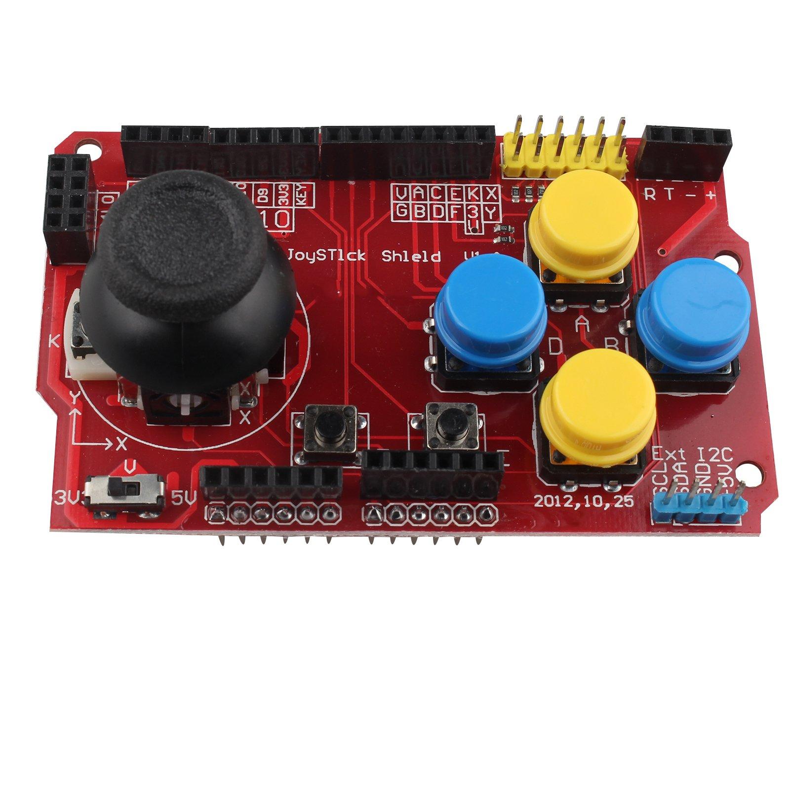 Gamepads Joystick Teclado Escudo Ps2 Para Arduino Nrf24l01 Nokia 5110 Lcd I2c