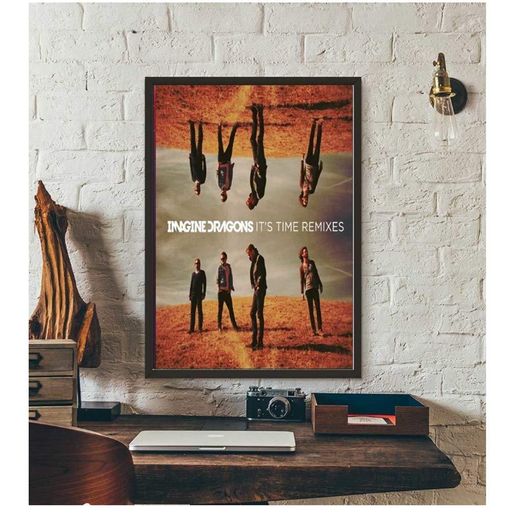 Imagine Dragons Álbum de Música Historia arte de la cubierta de lona Pintura pósters y cuadro de la pared Decoración del hogar impresiones de 40x60cmx1pcs -No Frame: Amazon.es: Bricolaje y herramientas