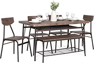 Best 6 piece kitchen table set with bench Reviews