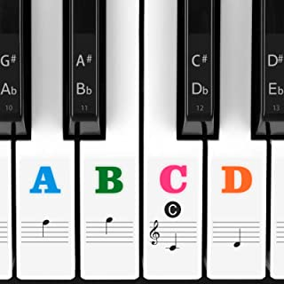 Piano Stickers for Keys, Eison Colorful Piano Keyboard Stick