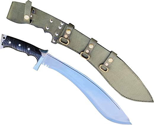 EGKH-15 Inches Commando Tactical Kukri Knife | Hand forged by Black Smith | Ready to use | forged by hammer | Bushcraft | Survival Tool