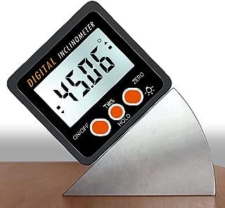 AUTOUTLET Digital Inclinometer Protractor 4x90° Level Box Angle Finder Backlight Digital Angle Gauge Bevel Gauge with Magnetic Based IN/FT,mm/m