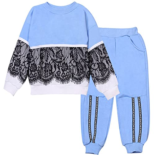 a7c572653a LZH Kids Girls Tracksuits Clothes Set Long Sleeve Outfit Top Pants Toddler  Suit