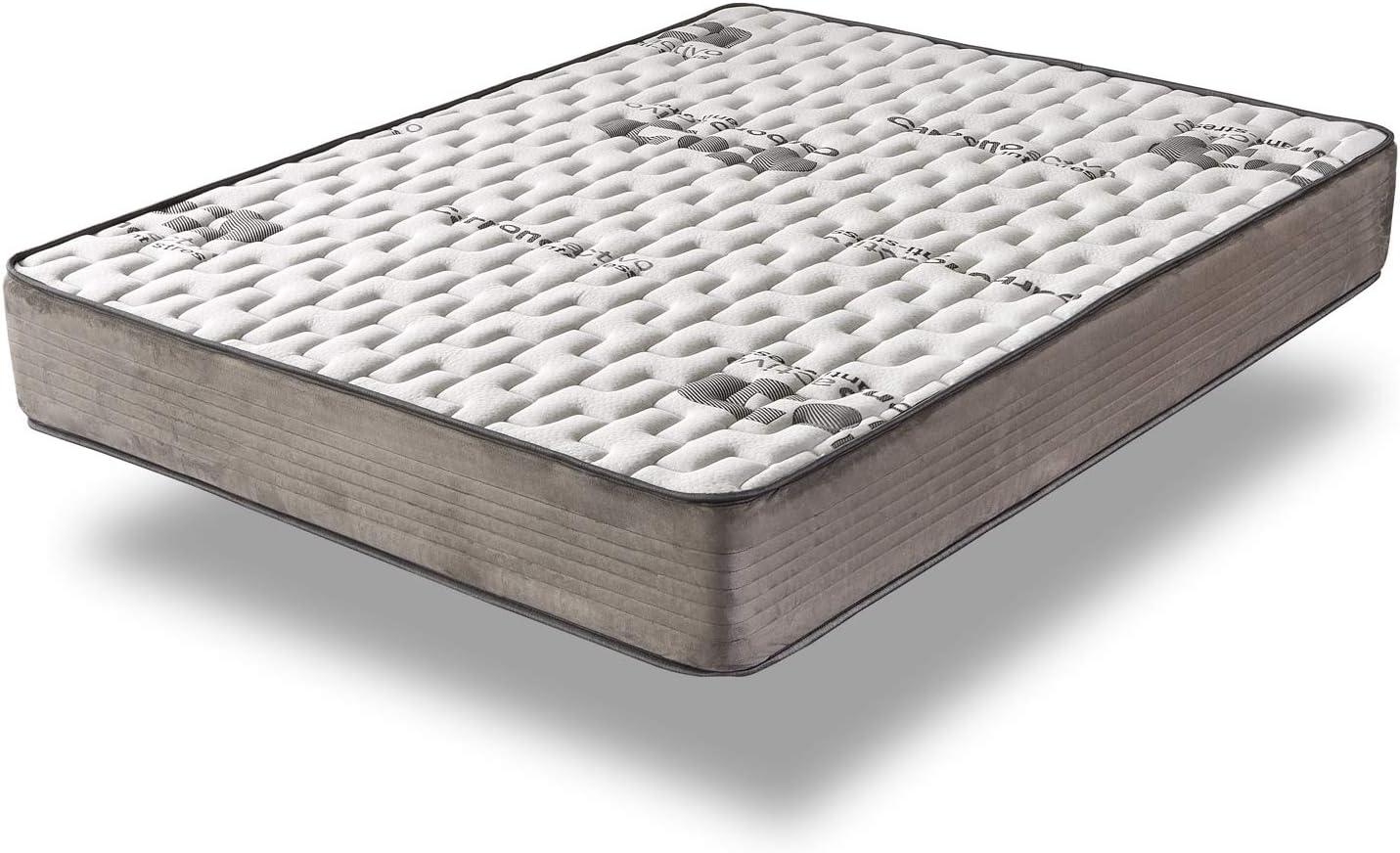 Home Heavenly®- Colchón VISCO Carbono colchón viscoelastico, con tecnología al Carbono Activo Transpirable Reversible e hipoalergénico, firmeza Alta, ...