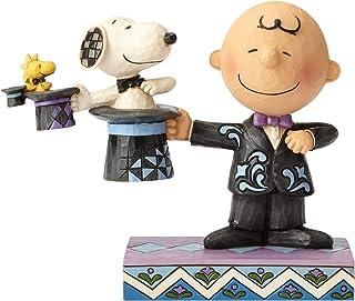 Enesco Jim Shore Peanuts Charlie Brown Top Hat Magician Figurine, 4.92 Inch, Multicolor