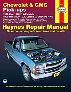 Chevrolet & GMC Full-size Pick-ups (88-98) & C/K Classics (99-00) Haynes Repair Manual (Does not include information specific to diesel engines. ... exclusion noted.) (Haynes Repair Manuals)