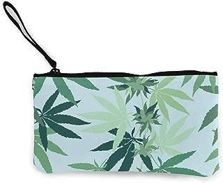 Women and Girls Cannabis Marijuana Weed Leaf Cute Fashion Coin Purse Wallet Bag Change Pouch Key Holder