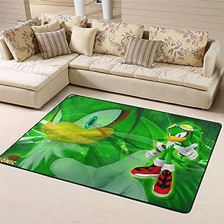Zmacdk Sonic The Hedgehog - Alfombra antideslizante para dormitorio infantil (150 cm x 240 cm), Sonic Sonic The Hedgehog S...