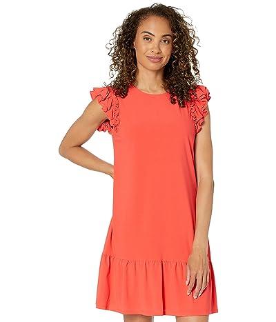 CeCe Flutter Sleeve Knit Dress