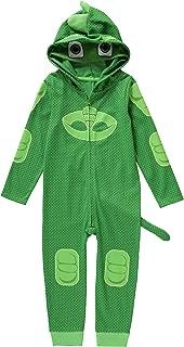 PJ Mask Toddler Boys Gekko Glow In the Dark Costume with 3D Spikes