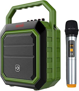 Update Portable Pa System Wireless Mic- 30W Bluetooth Speaker with Handheld Microphone, Loudspeaker Sound System Music Player for Indoor/Party/Karaoke/house party/church ect
