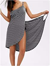 Home Textile Towel Women Robes Bath Wearable Stripe Towel Dress Girls Women Fast Drying Beach Spa Nightwear Sleeping-Black-XL
