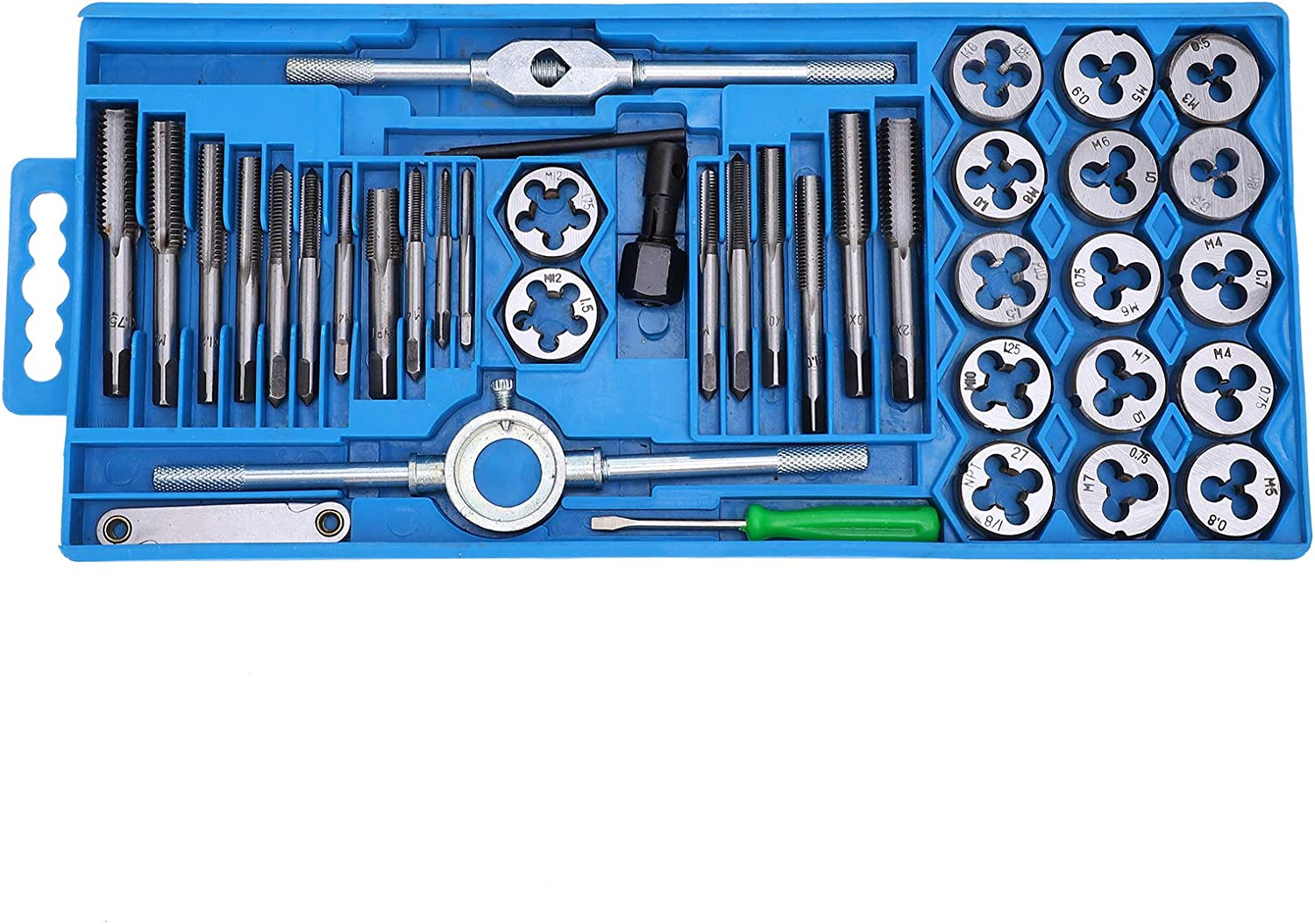 YIUS 40pcs Metric Tap and price Die Set Carbon Milling Steel Max 74% OFF Thre Hand