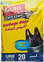 Glad Garbage Tie Large Handle Bags, 110 L