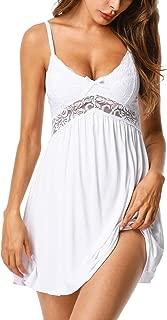 Women Sexy Nightgown Dress Full Slip Lace Lingerie Babydoll Sleepwear