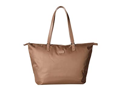 Lipault Paris Lady Plume Tote Bag M (Dark Taupe) Bags
