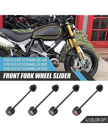Copri forcella per moto adatto per la maggior parte delle motociclette Stivale Gators con 3 pieghe e sfiato sul fondo per prevenire laccumulo di pressione o umidit/à Copri forcella anteriore