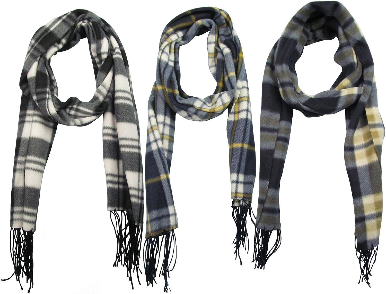 J.Ann Adults 3PK Winter Fashion Scarf, (Checkered, Combo4)