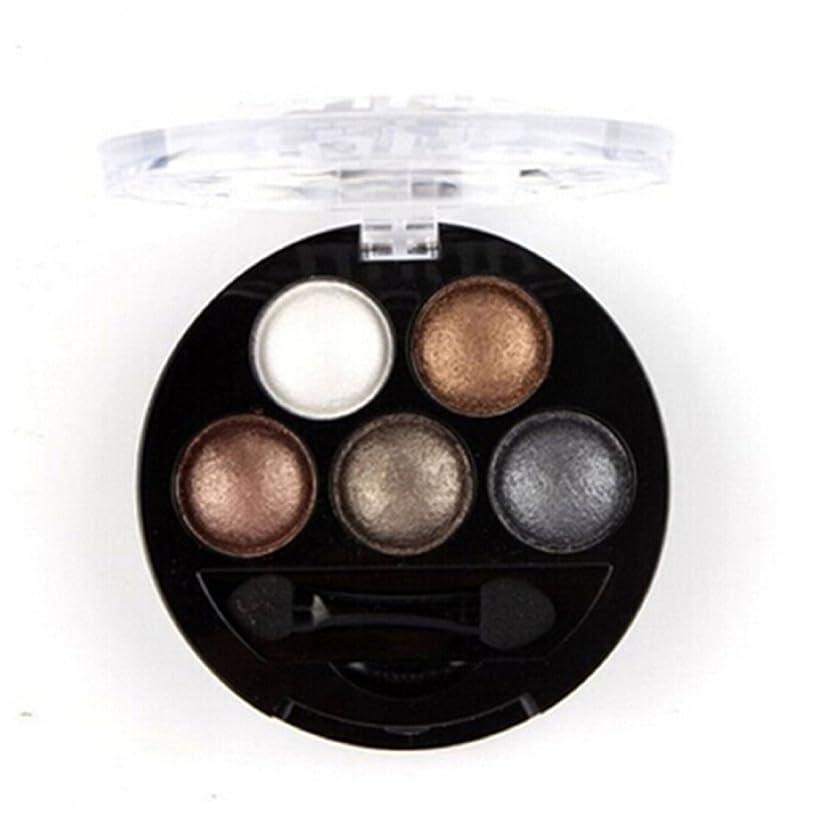 ペイント肌説教する(Nude) - HugeStore 5 Colours Glitter Eyeshadow Eye Shadow Powder Palette Shimmer Metallic Nude