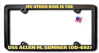 My Other Ride USS ALLEN M. SUMNER (DD-692) License Frame w/METALLIC GOLD TEXT