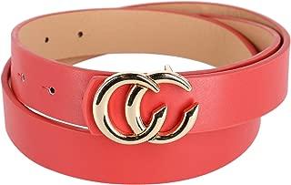 CTM Women's Belt with CC Buckle