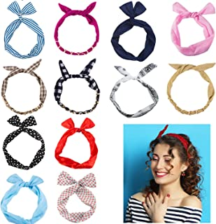 CoverYourHair Twist Bow Wire Headbands for Women - Assorted Headbands –Wire Headbands - Headbands for Women and Girls - 12 Pc