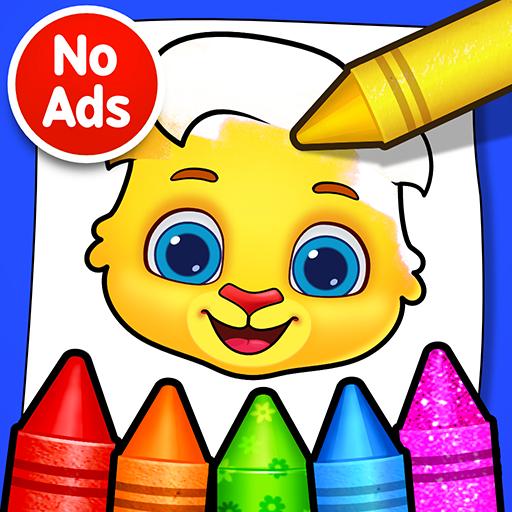 Juegos de colorear: colores, pinturas y brillo