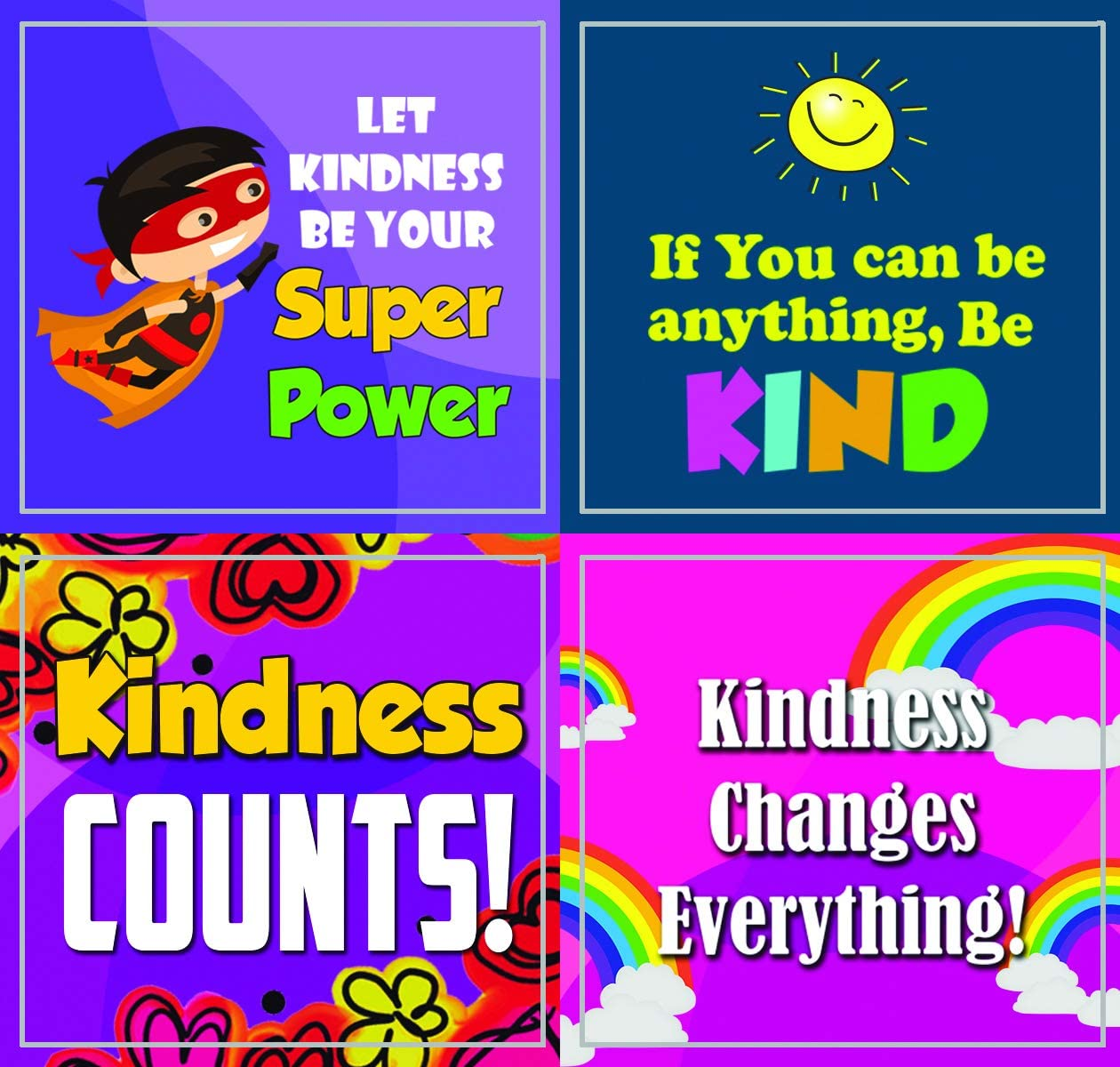 5-Sheet 5 X 12pcs Unique Personalized Themes Designs Creanoso Character Matters Stickers Flat Surface DIY Decoration Art Decal for Children Total 60 pcs Individual Small Size 2.1 x 2
