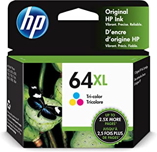 Original HP 64XL Tri-color High-yield Ink Cartridge | Works with HP ENVY Photo 6200, 7100, 7800 Series | Eligible for Inst...