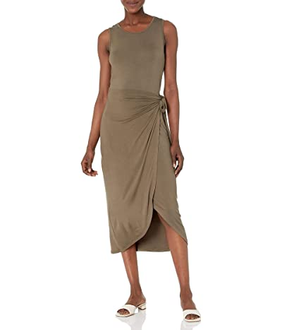 Calvin Klein Midi Sheath Dress With Wrap Skirt