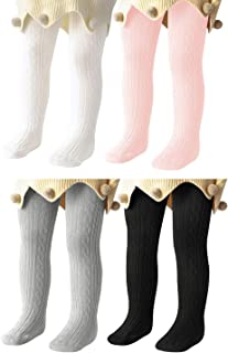 Baby Tights For Girls Soft Cotton Infant Leggings Toddler Solid Knit Socks Warm Stockings Newborn Pants