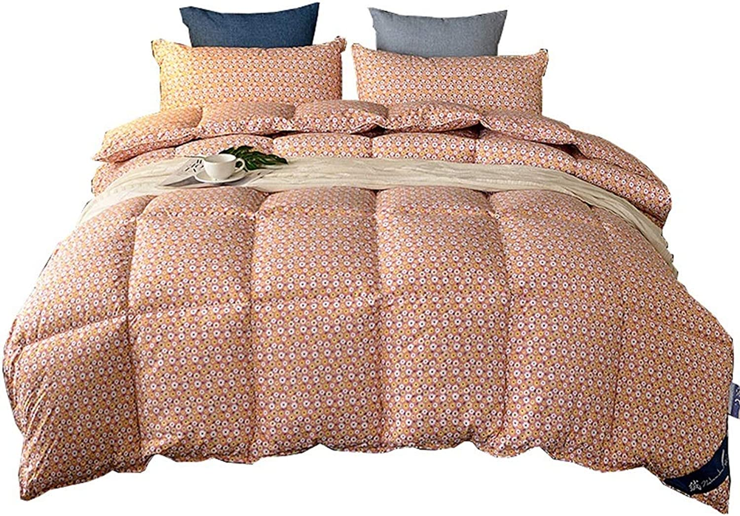 Quilted Comforter Corner Tabs Quilt 100% Cotton Fabrics Thicken Warm Soft All Season All-Season Quilted Comforte Rhypoallergenic (Size   200cmx230cm3kg)